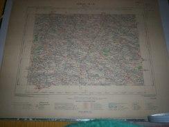 CARTE GEOGRAPHIQUE  G - Format  45 X 57 De AUBE_HAUTE MARNE_Feuille  MONTAIGU_IX  21 ) En1900 - Geographische Kaarten