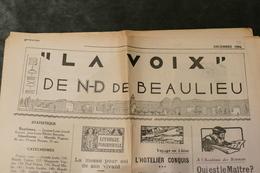 "Notre-Dame De Beaulieu *** Journal ""La Voix"" De 1934 ***   / J 83 - Newspapers"
