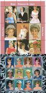Porträt Diana 1997 Burkina Faso 1488/6 9-KB+Surat 12-KB ** 36€ Lady Di Princess Of Wales Bloc Sheetlets Bf Lady Di - Burkina Faso (1984-...)