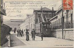 BELLEGARDE  Départ Du Tramway Et Gare P.L.M. - Bellegarde-sur-Valserine