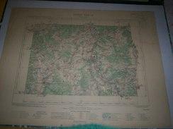 CARTE GEOGRAPHIQUE  G - Format  45 X 57 De AUBE_HAUTE MARNE_Feuille  CHAUMONT_ XXII  16 ) En1899 - Geographische Kaarten