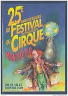 = 2001 - 25ème Festival International Du Cirque De Monte Carlo Carte Correspondant Au Visuel Timbre 2286 Monaco - Cirque