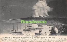 CPA LA MARTINIQUE ERUPTION DE LA MONTAGNE PELEE LE 7 MAI 1902 - Martinique
