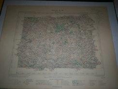 CARTE GEOGRAPHIQUE  G - Format  45 X 57 De CALVADOS_MANCHE_Feuille  SAINT LO_ X  12 ) En1902 - Geographische Kaarten
