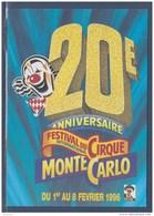 = 1996 - 20ème Festival International Du Cirque De Monte Carlo Carte Correspondant Au Visuel Timbre 2026 Monaco - Zirkus