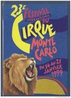 = 1999 - 23ème Festival International Du Cirque De Monte Carlo Carte Correspondant Au Visuel Timbre 2180 Monaco - Zirkus