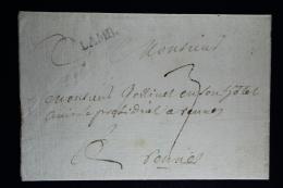 France: Lettre Complet  Lamb Lenain 1 Lindice 15 A Rennes Waxed Sealed - 1701-1800: Précurseurs XVIII