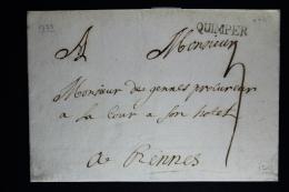 France: Lettre Complet 1753 Quimper Indice 12 A Rennes - 1701-1800: Précurseurs XVIII