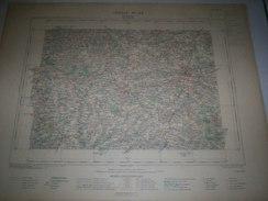 CARTE GEOGRAPHIQUE  G - Format  45 X 57 De DEUX SEVRES_VENDEE_Feuille  PARTHENAY_ XI  22 ) En1890 - Geographische Kaarten