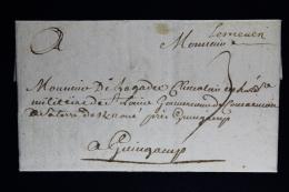 France: Lettre Complet 1752 Lesneven A Guingamp Waxed Sealed - 1701-1800: Précurseurs XVIII