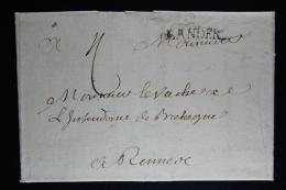 France:  Lettre Complet 1713 Lander Lesneuven A Rennes - 1701-1800: Précurseurs XVIII