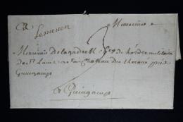 France:  Lettre Complet 1788 Lesneuven A Guingamp - 1701-1800: Précurseurs XVIII
