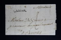 France:  Lettre Complet 1739 Lander A Rennes - 1701-1800: Précurseurs XVIII