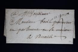 France:  Lettre Complet  1715  De Morlaix  A Rennes Waxed Sealed - 1701-1800: Précurseurs XVIII