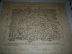 CARTE GEOGRAPHIQUE  G - Format  45 X 57 De DEUX SEVRES_MAINE Et LOIR_Feuille DOUE_ XI  20 ) En1907 - Geographische Kaarten