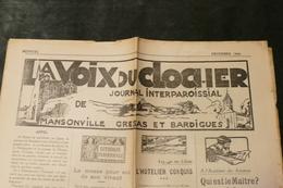 82 - Mansonville - Gresas Et Bardigues *** Journal Interparoissial = LA VOIX DU CLOCHER  /  J 90 - Newspapers