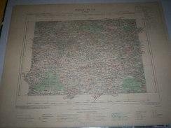 CARTE GEOGRAPHIQUE  G - Format  45 X 57 De COTE Du NORD_ILLE Et VILAINE_MORBIHAN_Feuille SAINT MEEN_ VII  16 ) En1903 - Geographische Kaarten