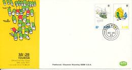 Hong Kong FDC 30-7-1977 TOURISM With Cachet - Hong Kong (...-1997)