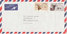 South West Africa SWA Air Mail Cover Sent To Denmark Swakopmund 18-8-1980 - South West Africa (1923-1990)