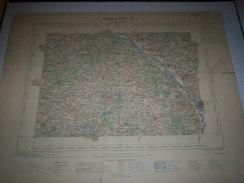 CARTE GEOGRAPHIQUE  G - Format  45 X 57 De ALLIER_CHER_NIEVRE_Feuille  MOULINS_ XVIII  22 ) En1901 - Carte Geographique