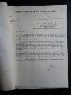 Lettres Documents 1929 Union Financiere De La Brasserie Rue Lincoln Paris - France