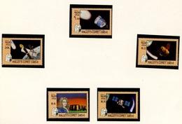 ESPACE - Comète De Halley - Maldives 1986 Y&T N°1050 à 1054 *** - Space