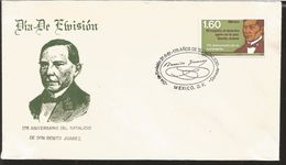 L) 1981 MEXICO, BENITO JUAREZ,  175TH ANNIVERSARY OF THE BIRTH, RESPECT FOR OTHERS LAW IS PEACE, FDC - Mexico