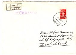 Lettre Recommandée De Riga CCCP (19.09.1992) Pour Neustadt - Lettonie