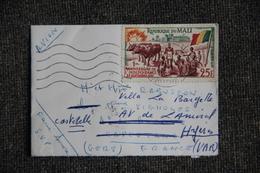 Lettre Du MALI à FRANCE - Mali (1959-...)