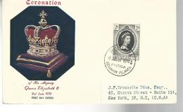 52793 ) British Soloman Islands FDC  Postmark 1953 Coronation - British Solomon Islands (...-1978)
