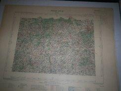 CARTE GEOGRAPHIQUE  G - Format  45 X 57 De NIEVRE_SAONE Et LOIRE_Feuille AUTUN_XX  21 ) En1898 - Carte Geographique