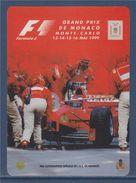 = Autocollant Grand Prix De Monaco Monte-Carlo Mai 1999 Formule 1 (8 Cm X 11cm) - Car Racing - F1