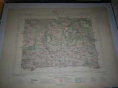 CARTE GEOGRAPHIQUE  G - Format  45 X 57 De COTE DOR_YONNE_Feuille MONTBARD_Ouest _XX  18 ) En1889 - Carte Geographique