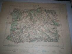 CARTE GEOGRAPHIQUE  G - Format  45 X 57 De EURE_EURE Et LOIR_Feuille CONCHES _XIV  13 ) En1894 - Geographische Kaarten