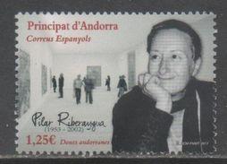 SPANISH ANDORRA , 2017, MNH, ART, PILAR RIBERAYGUA,  1v - Art