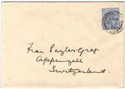 GB - Regno Unito - GREAT BRITAIN - UK - 1904 - 2 1/2 P - Viaggiata Da Paddington Per Appenzell, Suisse - Storia Postale