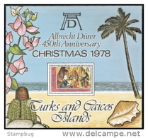 Turks & Caicos,  Scott 2015 # 379,  Issued 1978,  S/S Of 1,  MNH,  Cat $ 2.50,  Christmas - Turks And Caicos