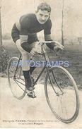 82294 FRANCE BICYCLE BIKE PEUGEOT CYCLING FRANÇOIS FABER POSTAL POSTCARD - Unclassified
