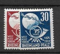 1949 MNH Rheinland Pfatz, Postfris - Zona Francesa