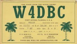 Florida Fort Myers QSL Card W4DBC 1934