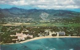 Hawaii Waikiki Aerial View Royal Hawaiian Moana and Surfrider Ho