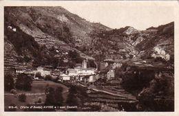 AVISE-AOSTA-I CASTELLI -CARTOLINA VERA FOTOGRAFIA ANNO 1940-50 - Aosta