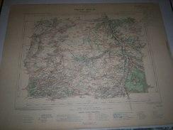 CARTE GEOGRAPHIQUE  G - Format  45 X 57 De LOIRET _SEINEet MARNE_Feuille  CHATEAU LANDON_ XVII 16 ) En1906 - Carte Geographique