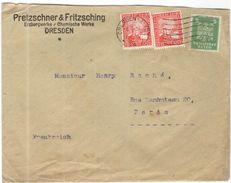 Deutsches Reich - 1926 - 2 X 10 Rheinland + 5 - Pretzschner & Fritzsching, Erzbergwerke, Chemische Fabrik - Viaggiata Da - Storia Postale