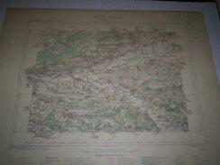CARTE GEOGRAPHIQUE  G - Format  45 X 57 De  SEINE Et MARNE_YONNE_Feuille MONTEREAU_ XVIII  15  ) En1891 - Geographical Maps