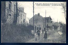 Cpa  Du 62 Environs De Boulogne  Sur Mer -- Pont De Briques -- La Rue Au Sable  Sep17-64 - Boulogne Sur Mer