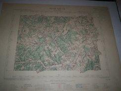 CARTE GEOGRAPHIQUE  G - Format  45 X 57 De COTE DOR_HAUTE MARNE_Feuille IS SUR TILLE_ XXII   18  ) En1892 - Geographische Kaarten