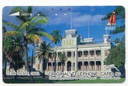 HAWAII  Télécarte Japonaise IOLANI PALACE OAHU - Hawaï
