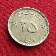 Oman 25 Baisa 1985 / 1406 KM# 45a *V1 Omã - Oman