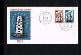 1956 - Europe CEPT FDC Netherlands - E27 Blanco [NL019_22] - Europa-CEPT